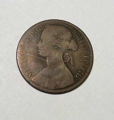 1867 UK Great Britain Queen Victoria Penny