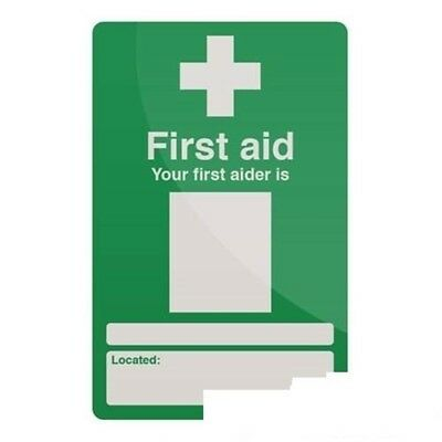 Fixman Your First Aider Sign 200 x 300mm Self-adhesive - Your First Aider x
