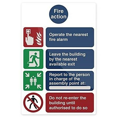 Fixman Fire Action Operate The Nearest Sign 200 x 300mm Pl - Fire Sign Action