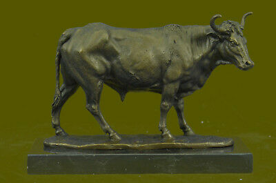 Signed Original Milo Cow Humped Cattle Sculpture Handcrafted Detailed Figurine