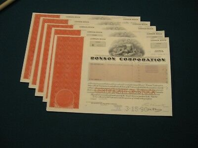 1-Certificate Ronson Stocks Great addition for the Lighter Collector