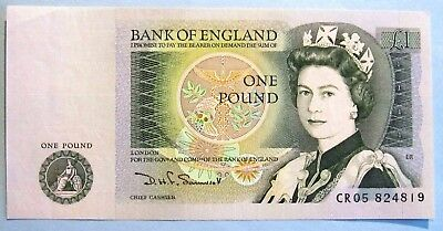 UNITED  KINGDOM  1 Pound Note - (D. H. F. Somerset) - Uncirculated
