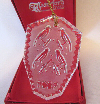 Vintage 1987 Waterford Crystal Four Calling Birds 12 Days Of Christmas Ornament