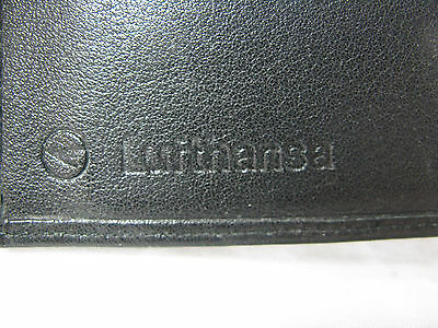 Original vintage Lufthansa ( Prägestempel ) Leder Brieftasche / leather wallet