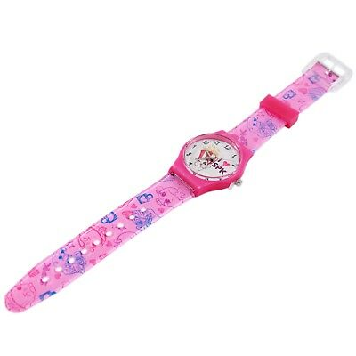 Shopkins Kids Pink Analog Watch with Printed Band Poppy Corn Character