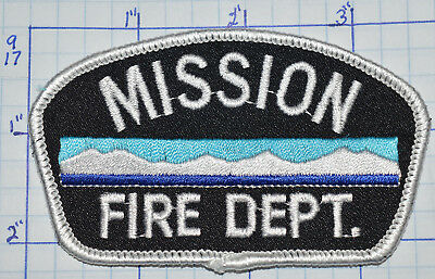 Canada, Mission Fire Dept British Columbia Patch