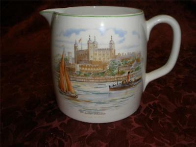 Retro Porcelain Serving Jug Nelson Ware 2743 England The Tower Of London