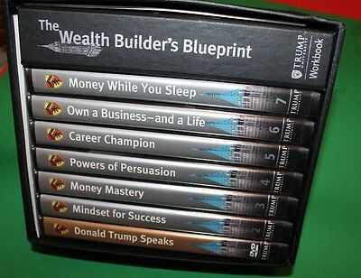 Donald Trump University The Wealth Builder's Blueprint DVDs And Book