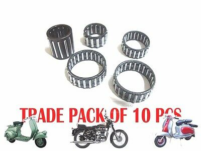 10X LAMBRETTA GP LI SX TV ENGINE ROLLER BEARING KIT SER1 2 3 125 150 200 @AEs