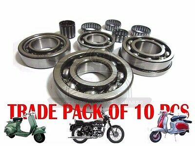 5X LAMBRETTA GP LI SX TV ENGINE BEARING KIT SERIES 1 2 3 125 150 200 SCOOTS @AEs