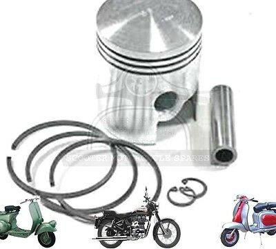 LAMBRETTA GP 200 SX200 PISTON KIT WITH 3 RINGS STD 66.40 MM @AEs