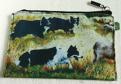 Border Collie Zippered Pouch Dog Breed Ruth Maystead Artwork Coin Purse Make up