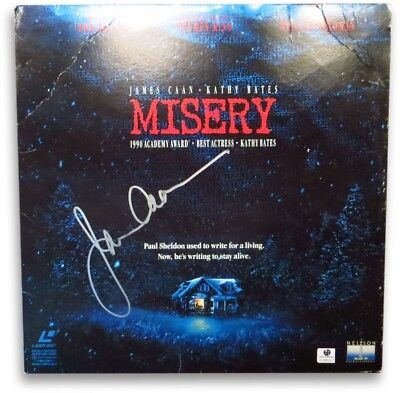 James Caan Signed Autographed Laserdisc Cover Misery GV865037