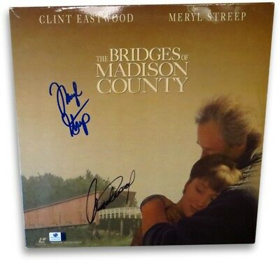 Clint Eastwood/Meryl Streep Dual Signed Laserdisc Cover Madison County GV865040