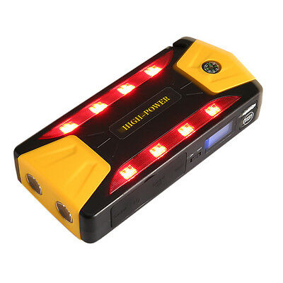 16800mAh 12V Auto Jump Starter Car Emergency Charger Booster Power Bank Battery