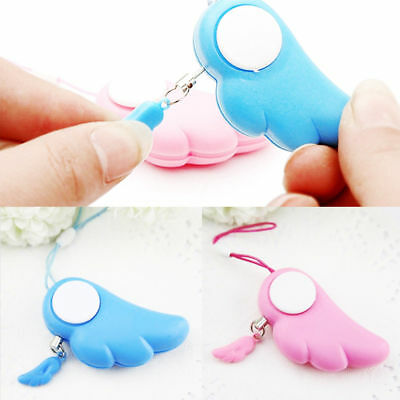 Cute Electronic Personal Safety Angel Loud Security Alarm Anti-Wolf Keychain