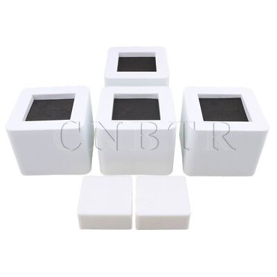 4pieces CNBTR White Adjustable Furniture Sofa Desk Chair Table Bed Riser Lifts