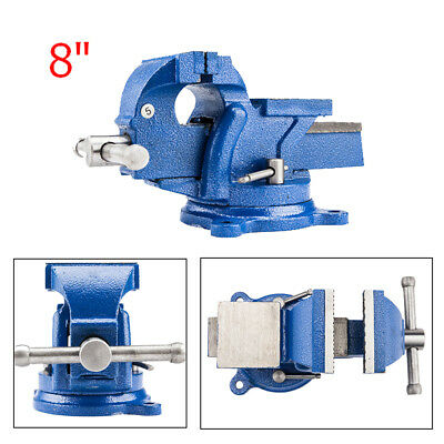 "8"" Mechanic Bench Vise Table Top Clamp Press Locking Swivel Base Heavy Duty New"