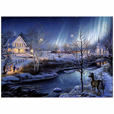 "Diamond Painting - Diamant Malerei - Stickerei - ""Winterland"" - Set - Neu (764)"