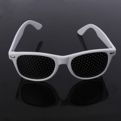 Fashion Vision Care Glasses Eyesight Improver Glasses Pinhole Glasses White