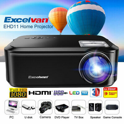 Excelvan Android 6.0 LCD Bluetooth 1080P Wireless Home Projector USB VGA SD HDMI