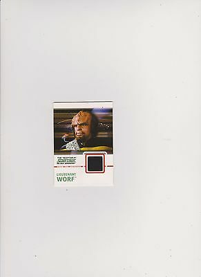 Star Trek Tng Quotable  Costume Card C7 Black Lieutenant Worf