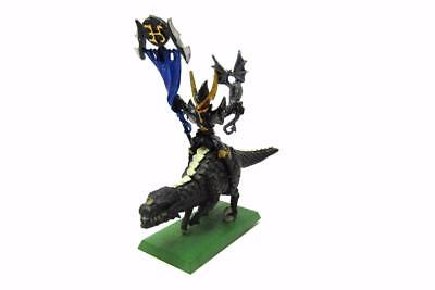 Warhammer Fantasy Sigmar Dark Elves Standard Bearer On Cold One Part Metal w5409