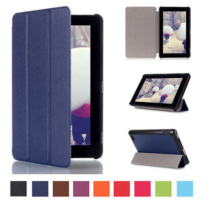 For Amazon Kindle Fire 7 HD 8 2017 PU Leather Flip Folio Case Stand Cover Tablet