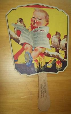 Old Advertising Premium Fan 666 Salve Medicine Myers Drug Store Hanover PA