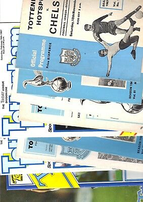 10 x Tottenham Hotspur Home Programmes 1st division 1962 - 1991 Listed 21