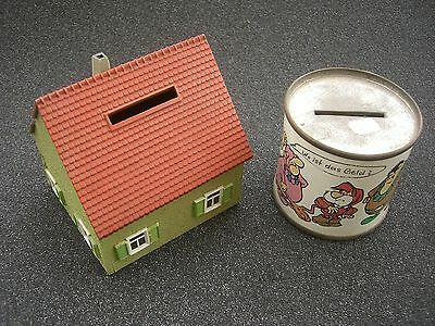 1095/    2 x Spardose/ Money Box um ca. 1965