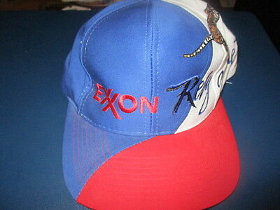 NWOT Vintage EXXON OIL Rely On The Tiger Red White & Blue Snapback Hat Sportcap