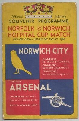 34/35 Norwich City v Arsenal friendly