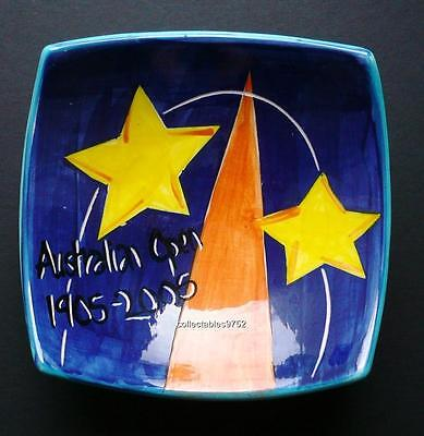AUSTIRLAN OPEN 1905 - 2005 HAND PAINTED BOWL by PURE ARTE