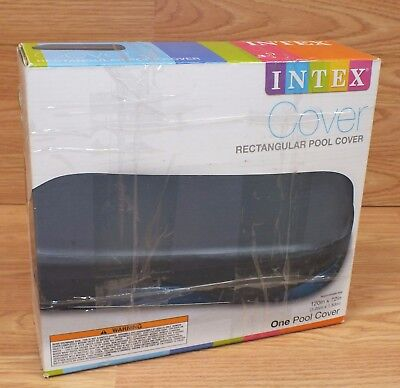 Genuine Intex (58412EP) Rectangular Pool Cover 120 inches x 72 inches **READ**