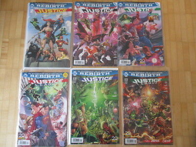 Justice League  - REBIRTH Heft 1,2,3,4,5,6  Panini Comics