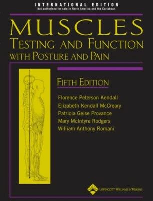 Muscle Testing & Function 5th (Hardcover), Kendall, Florence Pete. 9781451104318