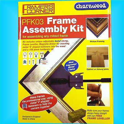 Charnwood PFK03 Picture Frame Making Assembly Kit hanging corner underpin mitre