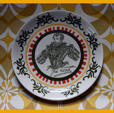 VINTAGE HOLKHAM FRANCIS DRAKE SHAKESPEARE EXHIBITION PLATE W.H.SMITH 1964 60s