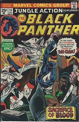 Vintage Marvel 1976 Jungle Action featuring THE BLACK PANTHER #19 Comic  -
