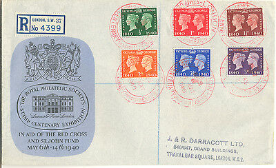 GB fine 1940 stamp centenary first day cover