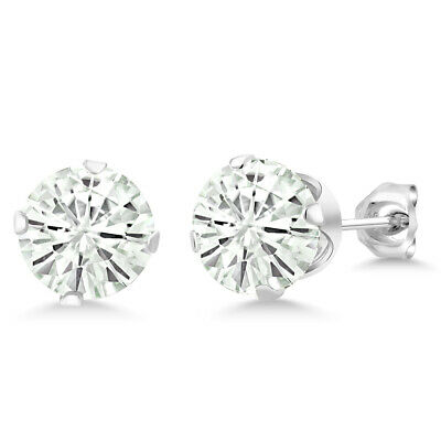 925 Sterling Silver 1.20 cttw DEW Created Moissanite Studs