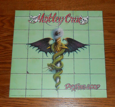 Motley Crue Dr. Feelgood 2-Sided Flat Square 1989 Promo Poster 12x12 RARE