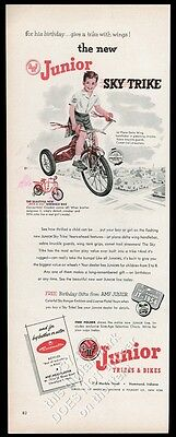 1954 AMF Junior Sky Trike tricycle vintage print ad