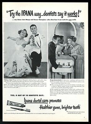 1949 Marge & Gower Champion photo Ipana toothpaste vintage print ad