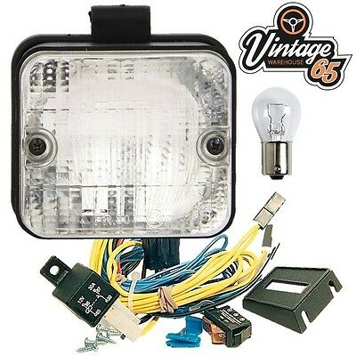 Car Van Camper Import E Approved Square Rear Duel Mount Reverse Lamp Light Kit