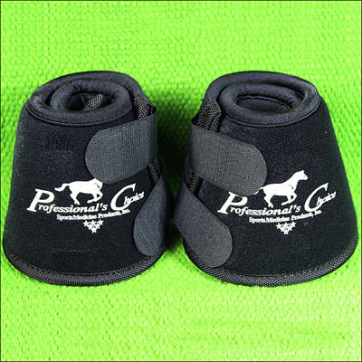 Black Medium Professional Choice Quick Wrap Hoof Soft Horse Bell Boot
