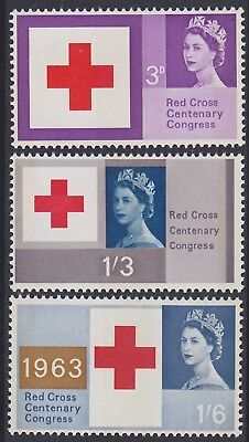 515) Gb  - Uk 1963  Red Cross  With Phosphor - Mint Never Hinged Set - Perfect