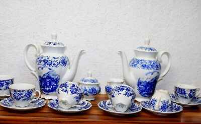 Antique Caffe Service* in Porcelain Bavaria West Germany Theresia