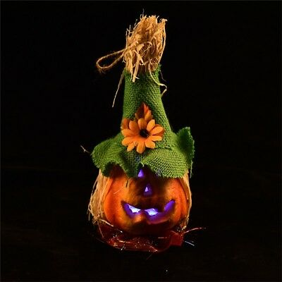 Halloween Yard Decor Spooky Pumpkin LED Stakes Set Outdoor Party Decoration